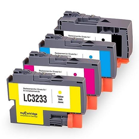MyCartridge compatibles Brother LC3233 Cartuchos de Tinta para ...