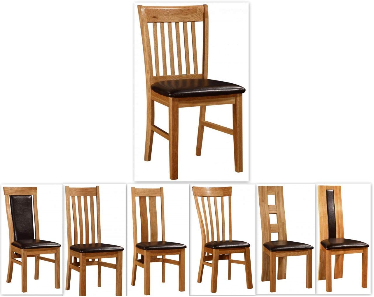 Kelsey Stores Solid Oak Dining Chairs Oak Natural Chairs Various Designs Set Of Two (Lincoln)