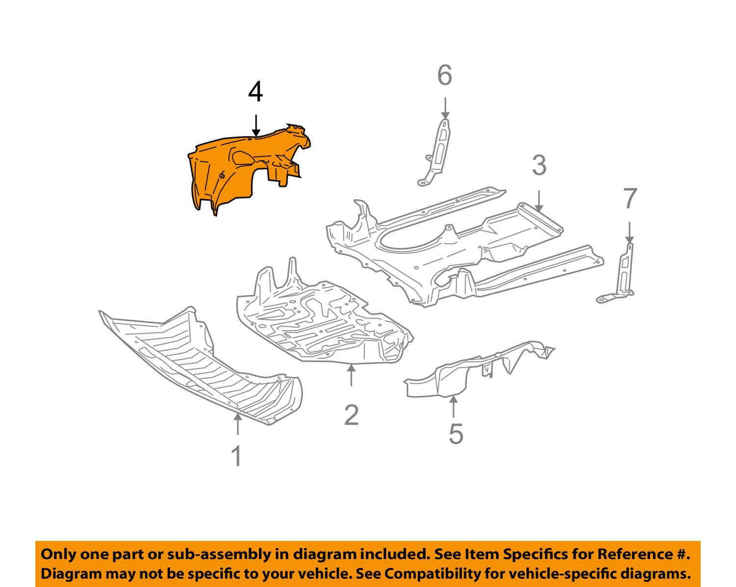 Mercedes Benz Genuine Side Shield 221-524-24-25 by Mercedes Benz (Image #3)