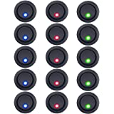 E Support Car LED Round Toggle Switch Pack of 15
