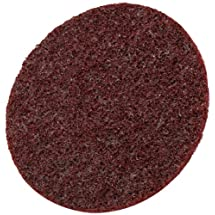 Scotch-Brite(TM) Surface Conditioning Disc, Hook and Loop Attachment, Aluminum Oxide, 4-1/2 Diameter, Medium Grit (Pack of 10)