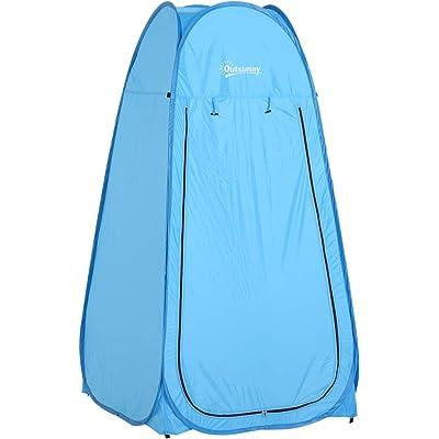 Outsunny Tienda de Campaña Instantánea Tipo Carpa Ducha Cambiador WC Impermeable para Camping 100x100x185cm