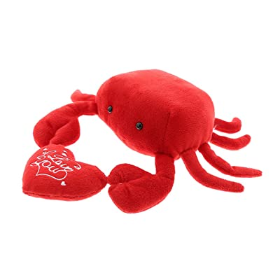 Dollibu Red Crab I Love You Valentines Stuffed Animal - Heart Message - 6 inch - Super Soft Plush - Item #K5139-5999: Toys & Games