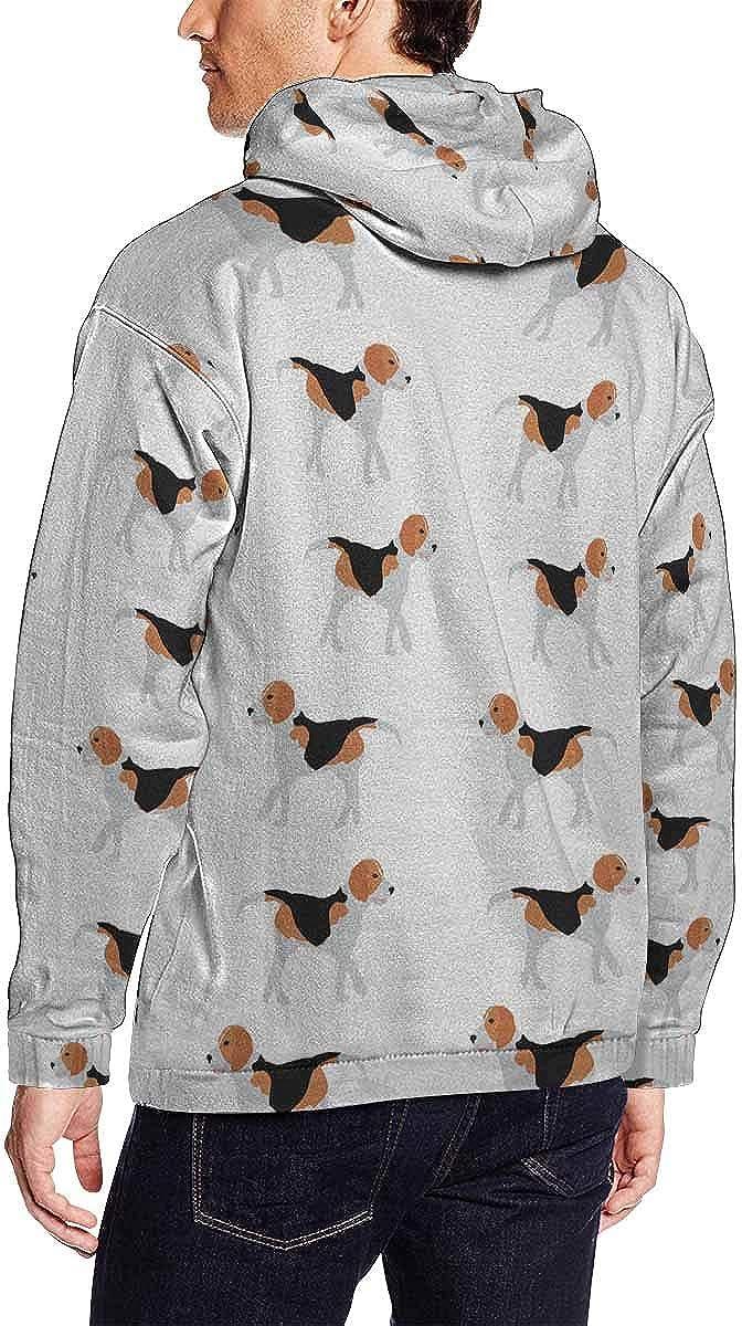 INTERESTPRINT Mens Beagle Dogs Pocket Hoodie