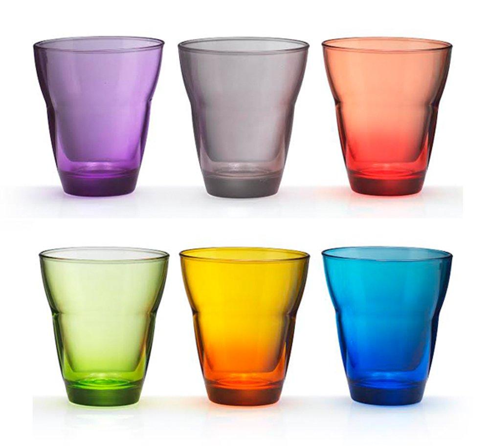 Kaleidos Set 6 bicchieri Acqua in vetro soffiato MONDO MULTICOLOR