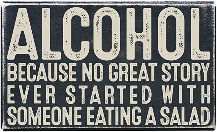 "Vintage Wall Decor w/ Funny Quote, Unique Metal Wall Decor for Home, Bar, Diner, Pub, or Man Cave 9""x12"" Metal Signs, Fun Kitchen Decor, Unique Drinking Sign, Funny Bar Signs, Vintage Kitchen Signs"