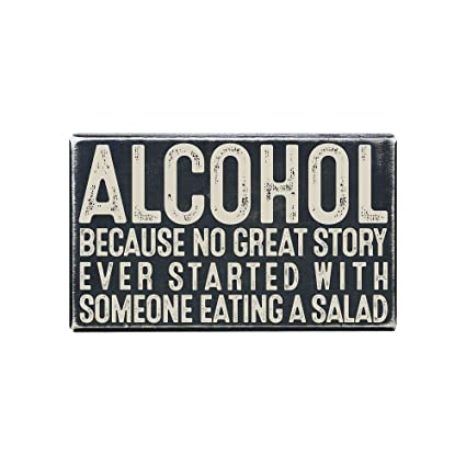 Vintage Wall Decor W/ Funny Quote, Unique Metal Wall Decor For Home, Bar