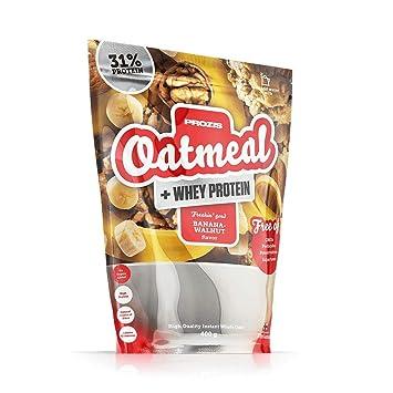 Prozis Oatmeal y Proteína de leche, Plátano con nueces - 400 gr ...