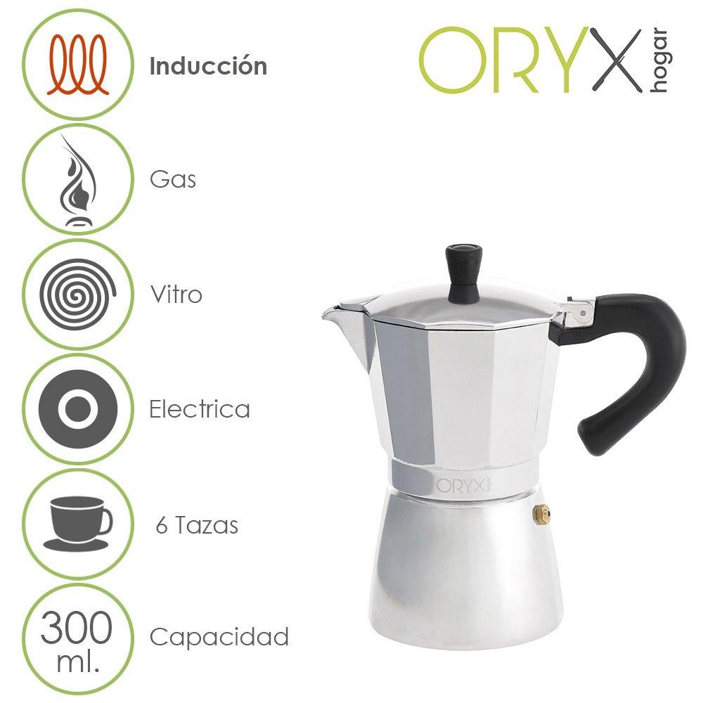 ORYX Espressokocher Induktion 6Tassen, Aluminium, silber, 17x 21x 12cm A Forged Tool 5056022