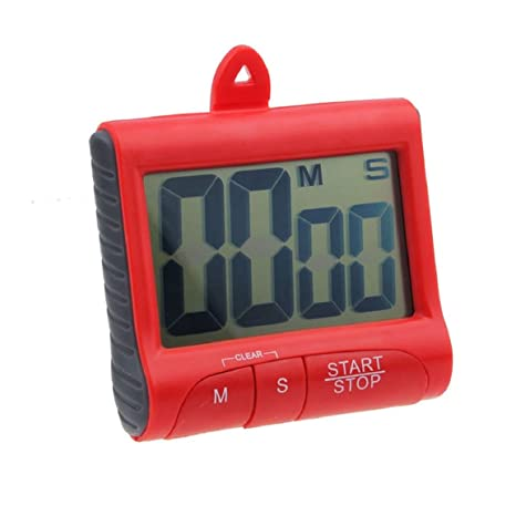 Malloom® imán digital cocina contar abajo contador Timer pitido Reloj Despertador (rojo(red