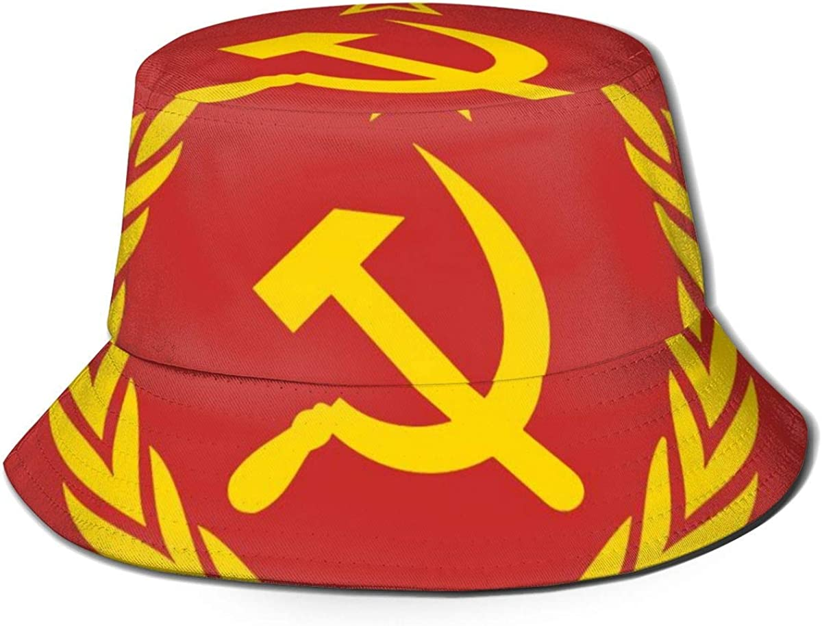Union sovi/étique CCCP URSS Embl/ème Rouge Unisexe Cool Bucket Hat Fisherman Cap Sun Hat