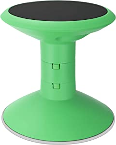 """Storex Wiggle Stool, Adjustable Height 12"""", 14"""", 16"""", or 18"""" for Active Seating in The Classroom, Green (00304U01C)"""