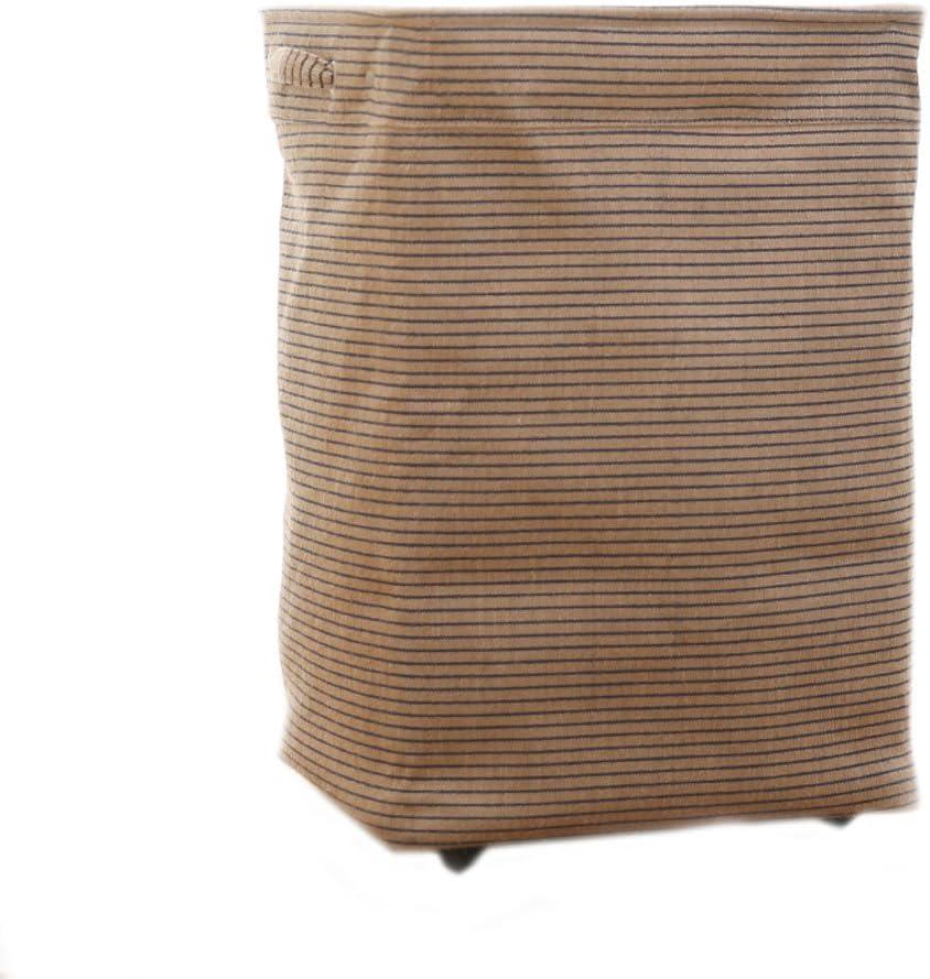 XXT-Sunshine Cesta de Almacenamiento de poleas doméstica Creativa Cubeta de Lavado Cubeta de Almacenamiento Franjas de Yute Cesta de Almacenamiento Multiusos Plegable
