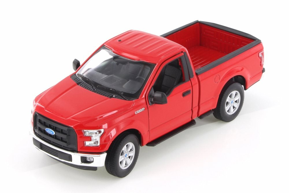 2015 Ford F 150 Regular Cab >> Amazon Com Welly 2015 Ford F 150 Regular Cab Pick Up Red 24063wr