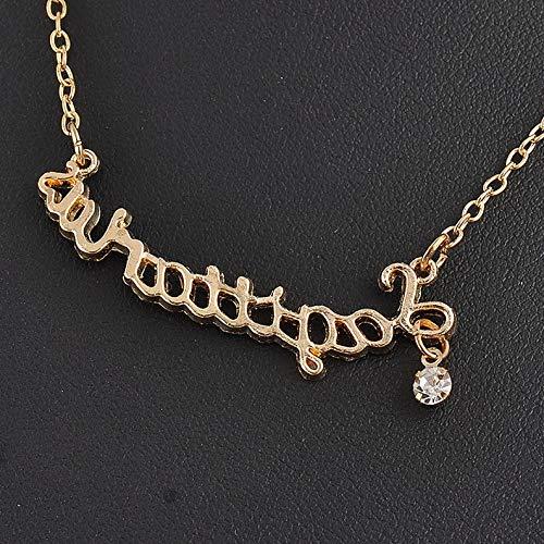 Hebel Charm Fashion Couple Zodiac Guardian Star Clavicle Chain Letter Pendant Necklace | Model NCKLCS - 34291 -