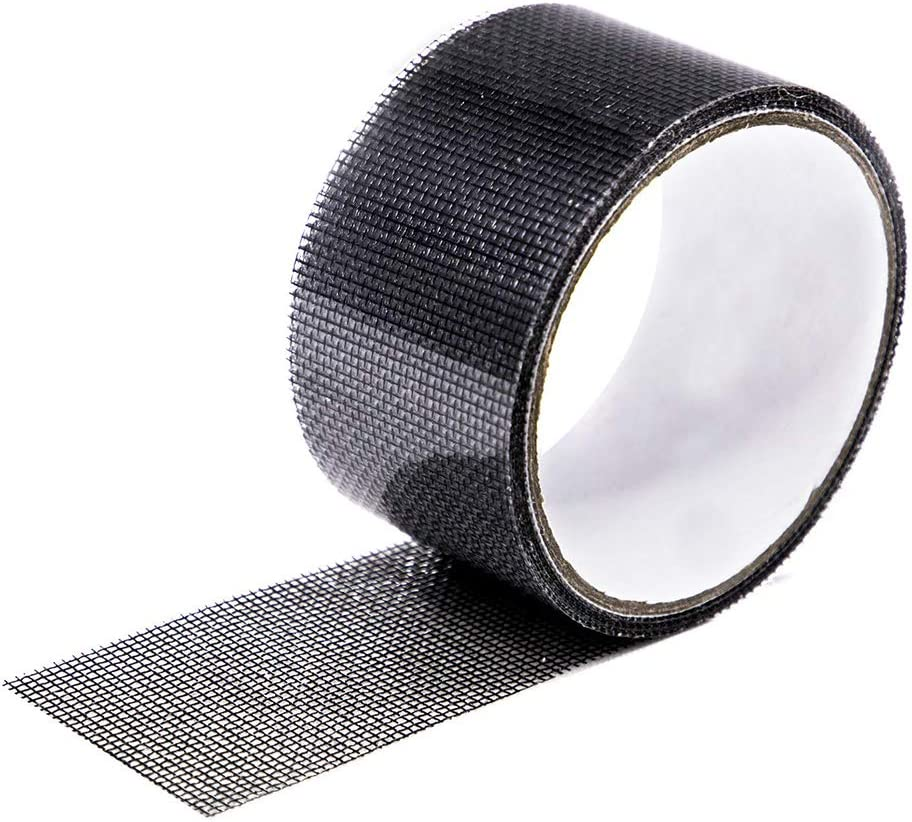 Strong Adhesive Fiberglass Covering Wire Mesh Repair for Window Screen and Screen Door tears Holes Screen Repair kit Loboo Idea Window Screen Repair Kit Tape 2x78.74 Inches, Black