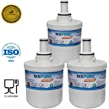 3 Pack Samsung AquaPure DA2900003G Plus Compatible Water Filter Refrigerator RFC1100A