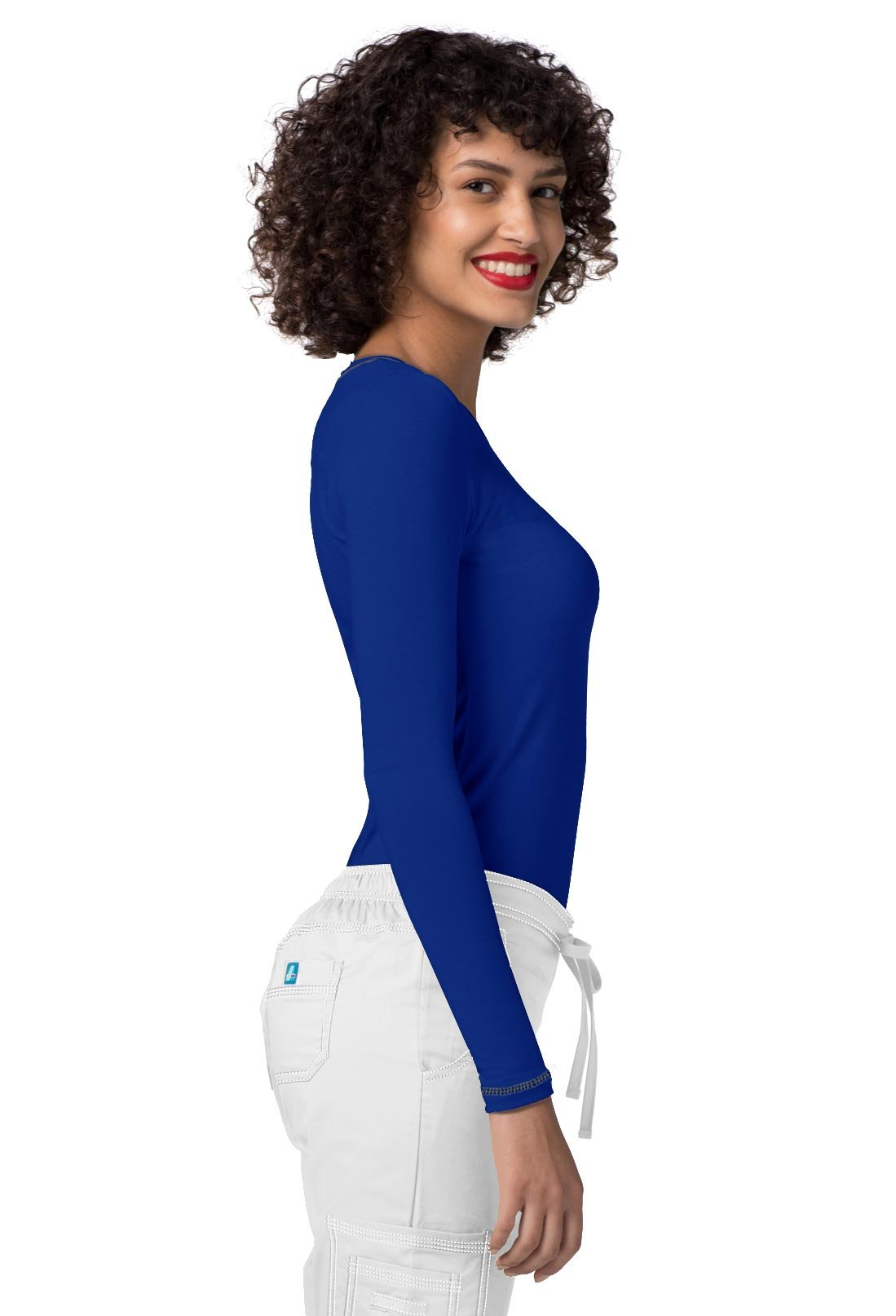 Adar Womens Comfort Long Sleeve Fitted T-Shirt Underscrub Tee- 3400 - Royal Blue - L by ADAR UNIFORMS (Image #5)