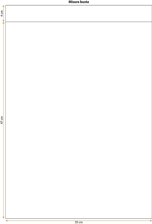 Italpak Buste Metallizzate Soft 50 pz X204021152500 15x25cm Colore Argento