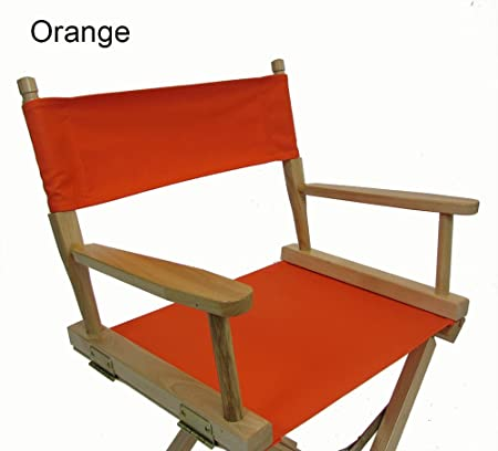 Replacement Cover Canvas for Director s Chair Flat Stick – Orange