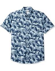 Amazon Essentials Men's Regular-fit Short-Sleeve Print Shirt