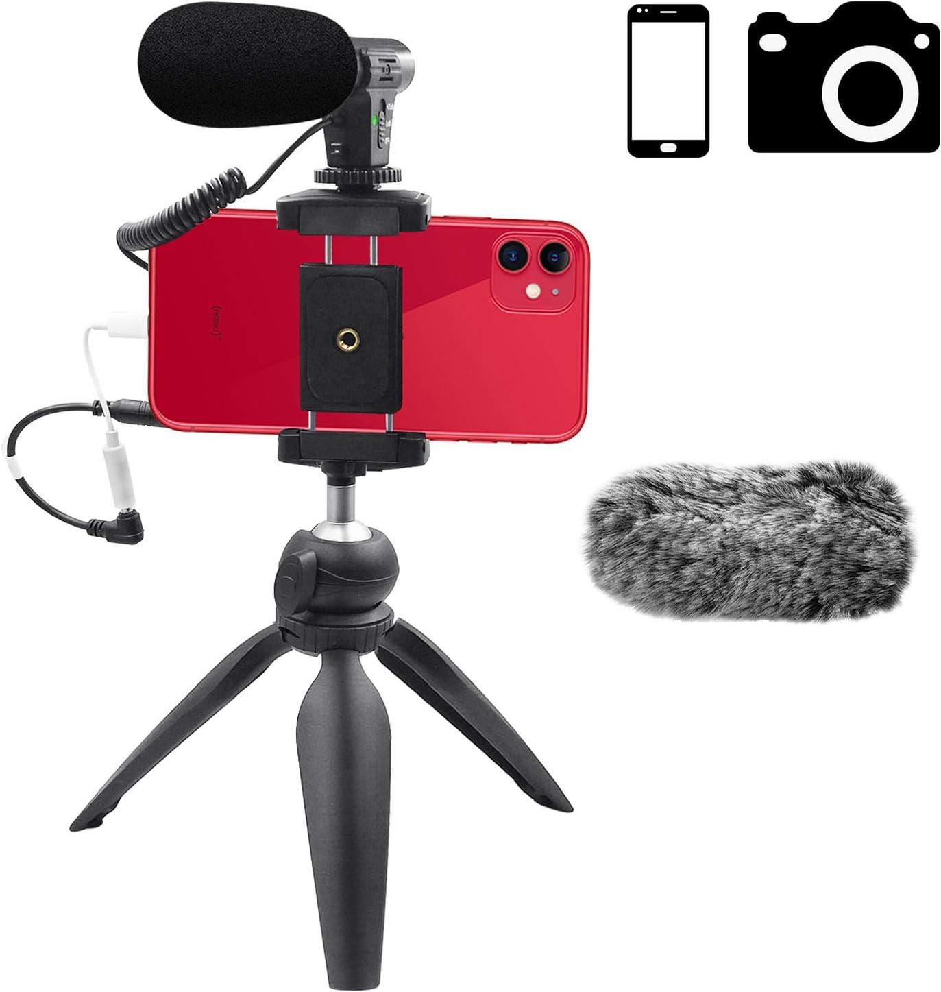 Veksun ASMR - Micrófono para cámara de smartphone (conector jack ...
