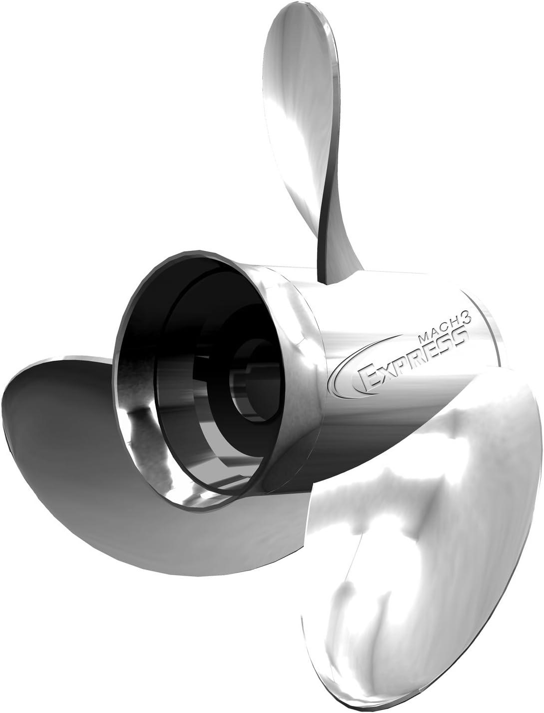 Turning Point Propeller 31501722 Express Left Stainless 3-Blade Propeller 14-1//4 X 17
