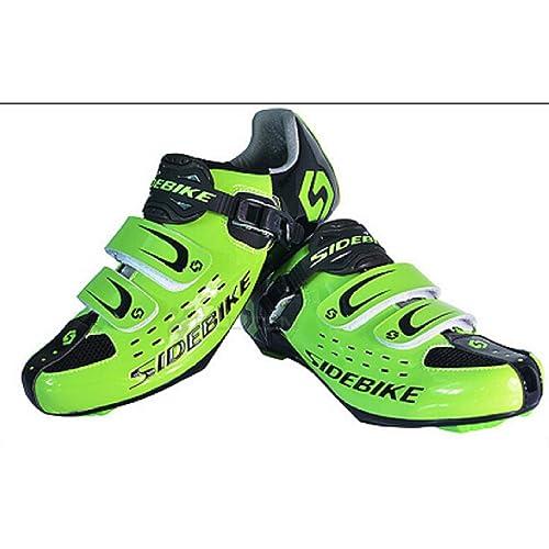 SIDEBIKE Zapatillas de Ciclismo de Carretera, Zapatos de Bicicleta de Fibra de Carbono, Zapatos