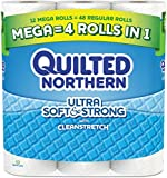 Quilted Northern ckGyc Ultra Soft & Strong, Supreme (90+ Regular) Rolls TOILET PAPER, 8 Rolls Total