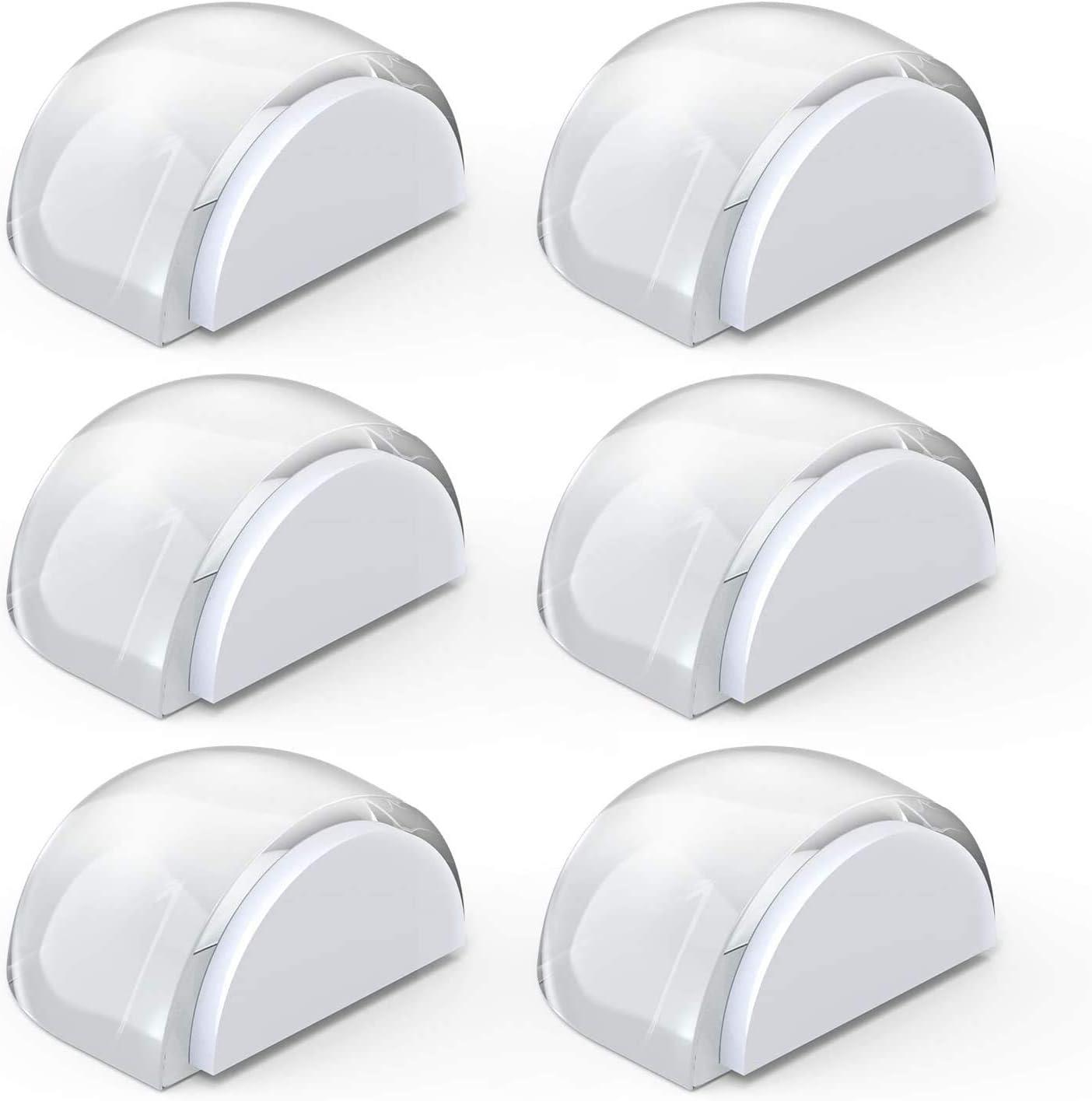 Tope de Puerta para Suelo, Yosemy Topes para Puertas Transparente Autoadhesivo Protección de Pared y Muebles, 6pcs