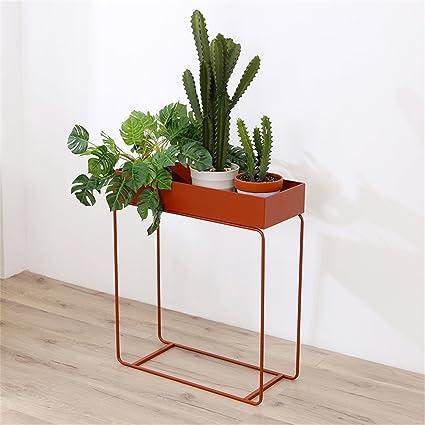 Amazon.com: Estante para macetas de pie con diseño de flores ...