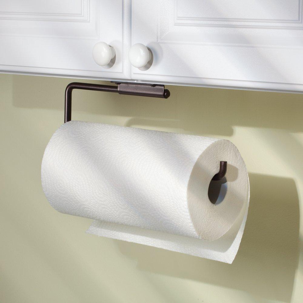 Amazon.com - InterDesign Swivel Paper Towel Holder for Kitchen - Wall  Mount/Under Cabinet, Bronze - Paper Towel Holders