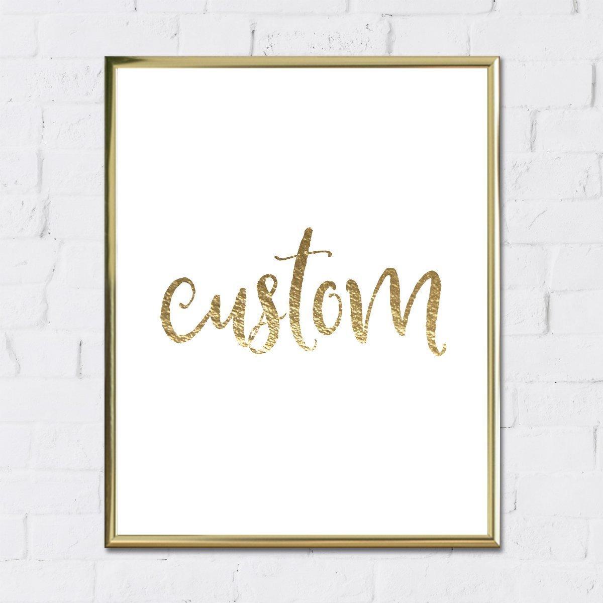 Custom Gold Foil Art Framed Logo 8x10 inches by Merrifox
