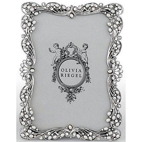 AUDREY SILVER Austrian Pearl/Crystal 4x6 frame by Olivia Riegel - - Audrey Crystal