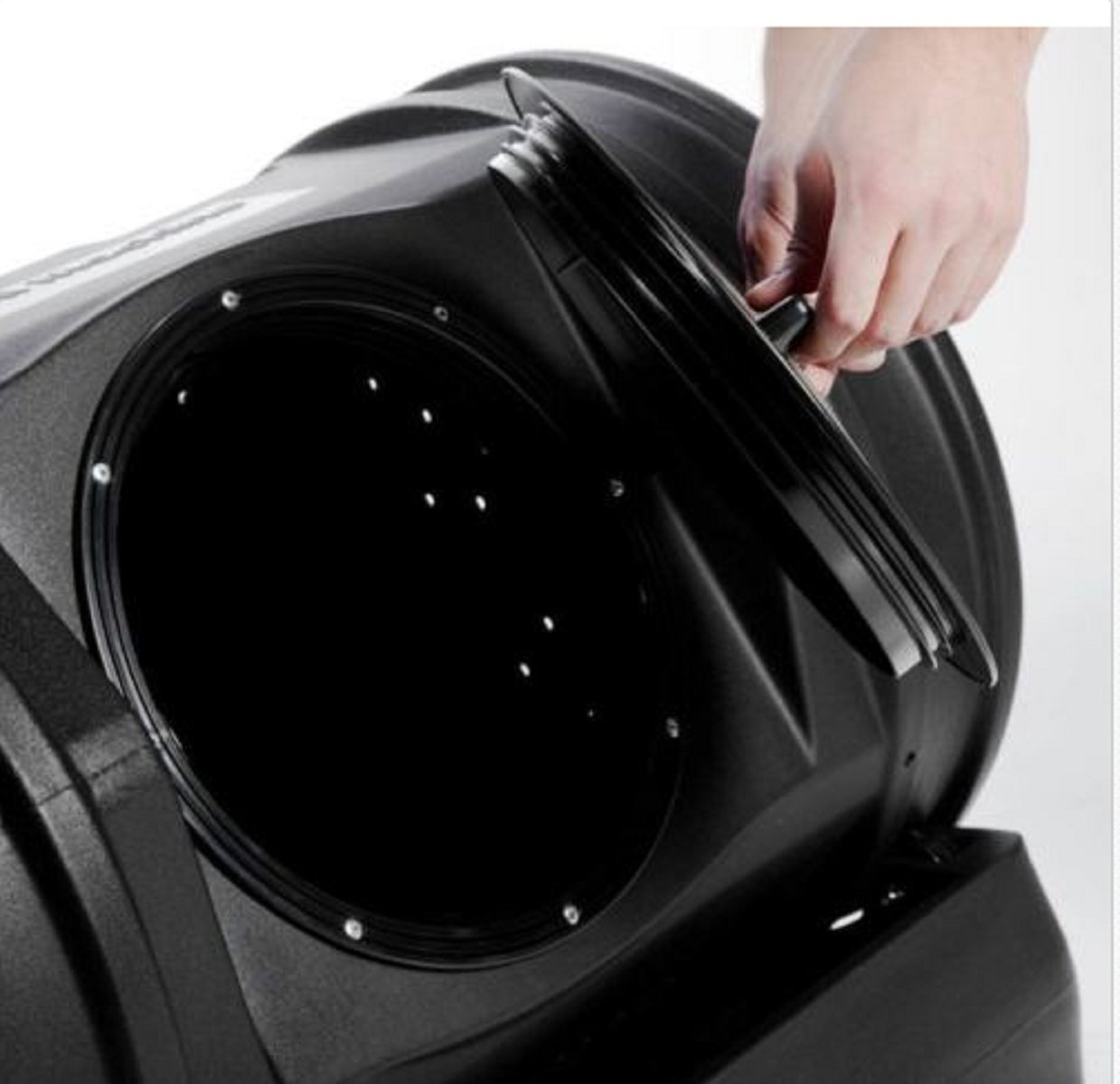 USA Premium Store Outdoor Compost Tumbler Composter Recycled Plastic Barrel Home Garden Waste Bin