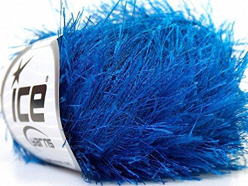 Royal Blue Eyelash Yarn 50 Gram Ice 22780 (Eyelash Yarn Blue)
