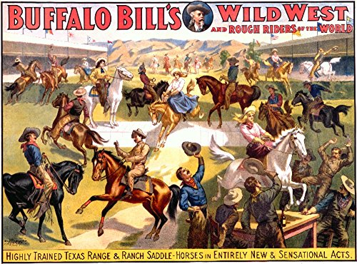 Buffalo Bill's Wild West - Range and Ranch Saddle - Horses Vintage Poster USA (12x18 Art Print, Wall Decor Travel ()
