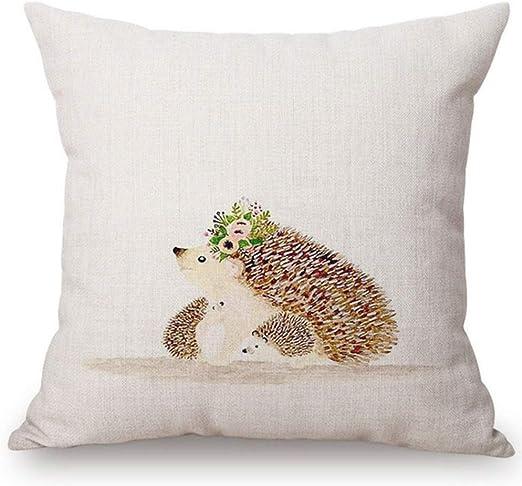 Cushion Pillow Cover Animal Cute Hedgehog Give me a Hug 18/'*18/' Home Decoration