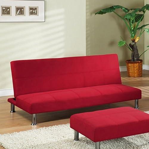 K and B Furniture Co Inc InRoom Designs Klik-Klak Convertible Sofa – with Metal Frame