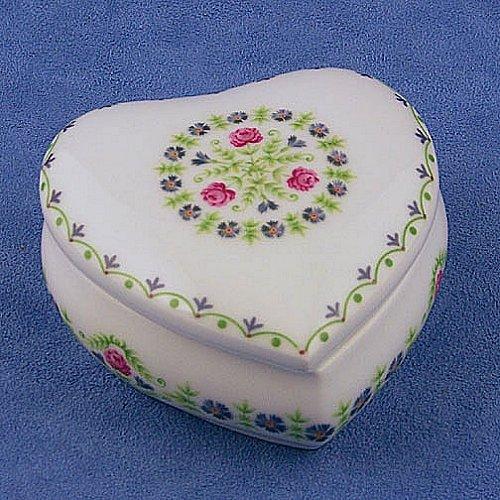Limoges Rose & Fleur Large Heart Box
