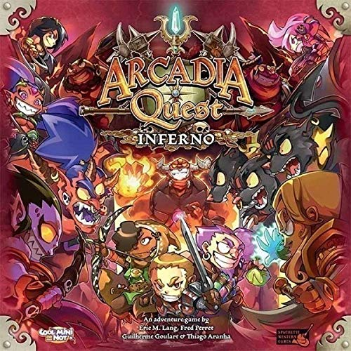 Asmodee CMN0053 Arcadia Quest-Inferno Extension
