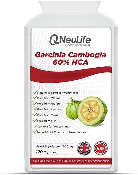 Garcinia Cambogia 60 Hca 500mg 120 Capsule Neulife Salute E Fitness Amazon It Salute E Cura Della Persona