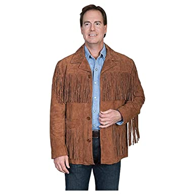 100b10692bce Scully Men s Suede Fringe Jacket Brown Small