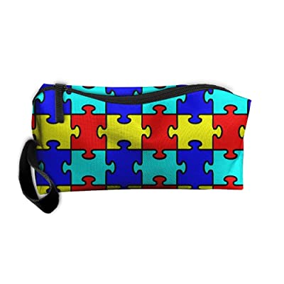 8c60bdef3d0f free shipping Autism Jigsaw Puzzle Craft Pattern Makeup Bag Printing ...