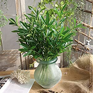 Gotian Artificial Plant Fake Leaves Foliage Grass Bush Wedding Party Home Garden Decor ~ Home Creative Decoration, Furnishings, Craft Ornaments, Floral Decoration ~ 5