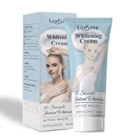 Whitening Cream, 10 Seconds Instant Whitening Effective for Armpit, Knees, Elbows, Sensitive and Private Areas, Nourishes, Moisturizes, & Repairs Skin Lightening Cream.