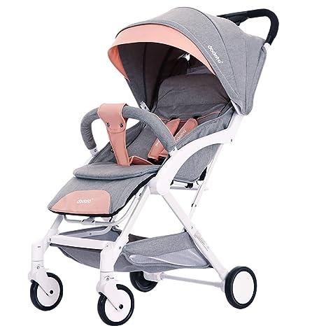 ZHAORU-Cochecitos Cochecito De Bebé Sentado Reclinable Ultraligero Portátil Mini Bebé Paraguas Plegable Carro Infantil