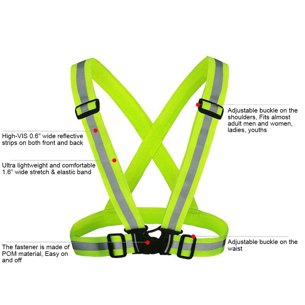 GOGO Adult Wholesale Reflective Vest For High Visibility, Motorcycle Jacket/Running Gear/Shirt-NeonGreen-50PCS by GOGO (Image #4)