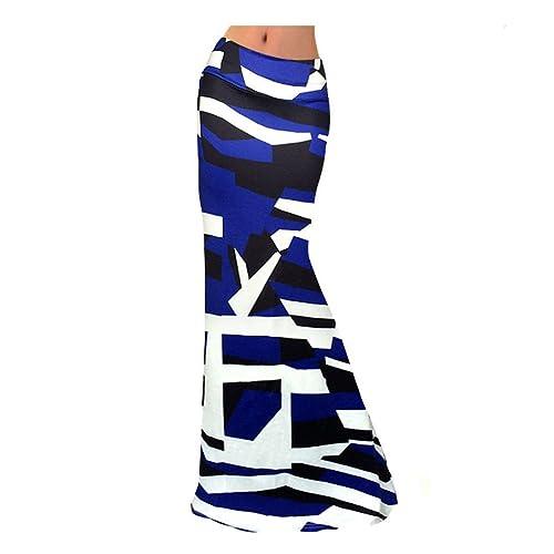 Elásticas Faldas De Cintura Las Mujeres Se Puso Un Vestido De Playa Grande
