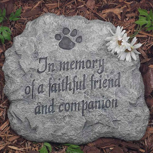 Evergreen Garden In Memory Of A Faithful Friend And Companion Stepping Stone